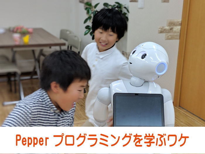 Pepperプログラミングを学ぶワケ